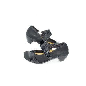 Naot Mary Jane Pump Heel Black Leather Womens US 7